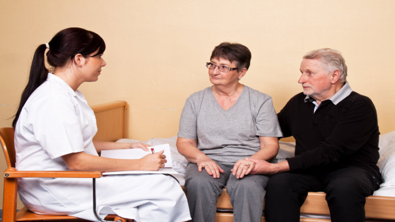 What can community nurses do for older adults who experience faecal incontinence?