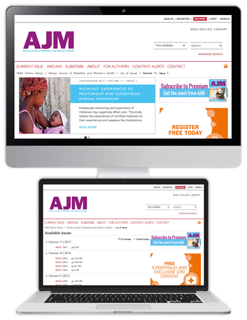 Picture of African Journal of Midwifery and Women's Health Website & CPD