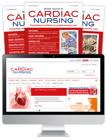 Picture of British Journal of Cardiac Nursing Print, Website & CPD