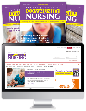 Picture of British Journal of Community Nursing Print, Website & CPD