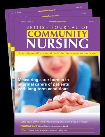 MAG Subscriptions  British Journal of Community Nursing
