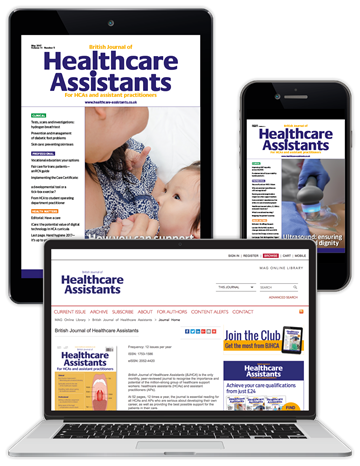 Picture of British Journal of Healthcare Assistants Digital Club