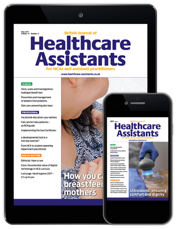 Picture of British Journal of Healthcare Assistants Digital