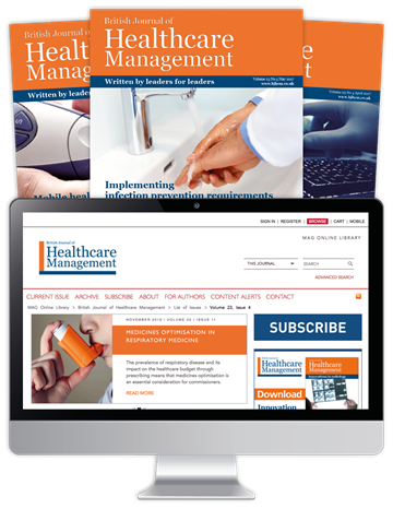 Picture of British Journal of Healthcare Management Print & Website