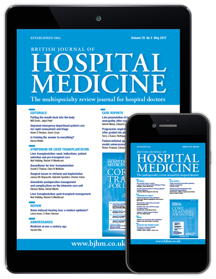 Picture of British Journal of Hospital Medicine Digital