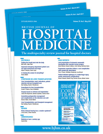 Picture of British Journal of Hospital Medicine Print