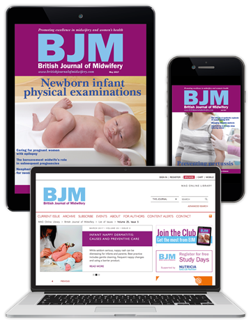Picture of British Journal of Midwifery Digital Club