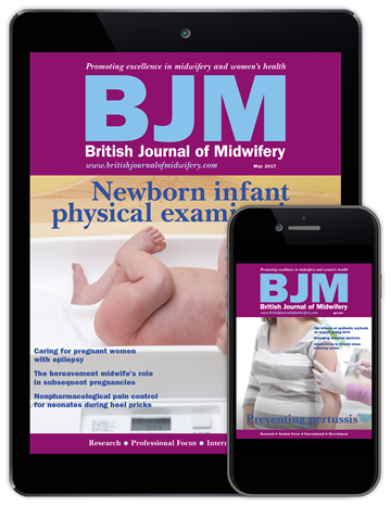 Picture of British Journal of Midwifery Digital