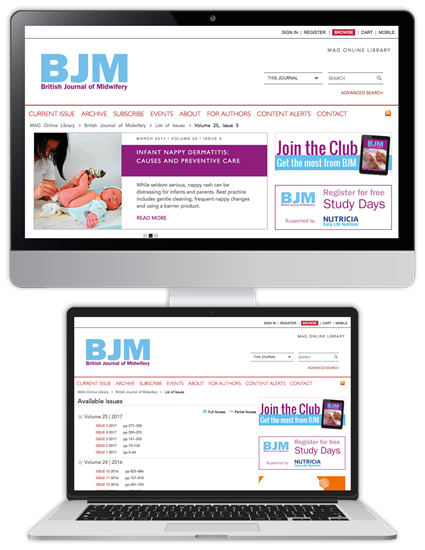 Picture of British Journal of Midwifery Website & CPD