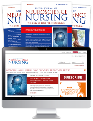 Picture of British Journal of Neuroscience Nursing Print, Website & CPD