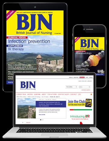 Picture of British Journal of Nursing Digital Club & free British Jnl of Cardiac Nursing