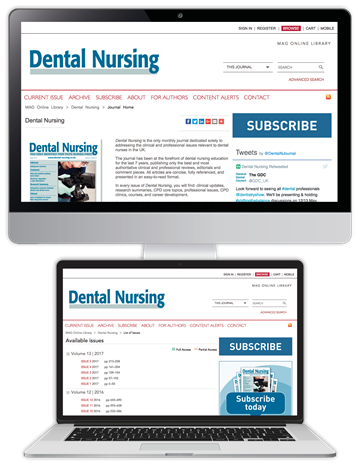 Picture of Dental Nursing Website & CPD