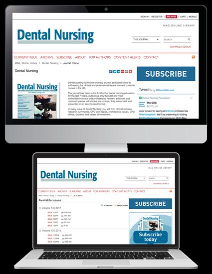 Picture of Dental Nursing Website & CPD