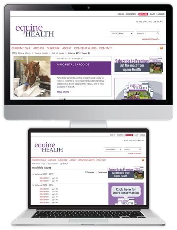 Picture of Equine Health Website