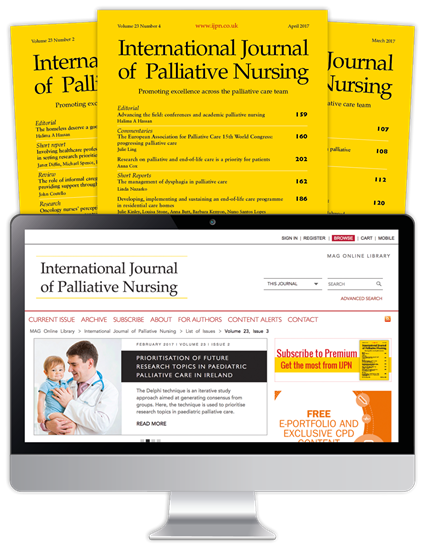Picture of International Journal of Palliative Nursing Print, Website & CPD