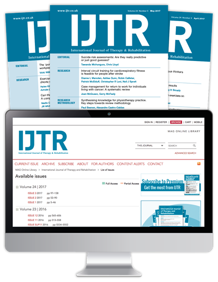 Picture of International Journal of Therapy & Rehabilitation Print & Website