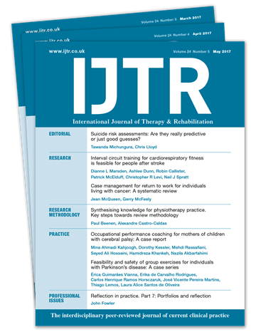 Picture of International Journal of Therapy & Rehabilitation Print