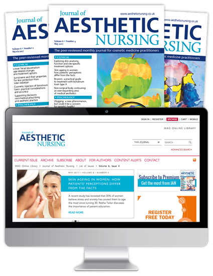 Picture of Journal of Aesthetic Nursing Print, Website & CPD