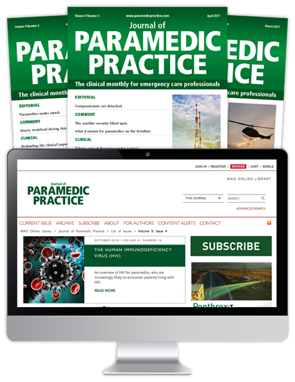 Picture of Journal of Paramedic Practice Print, Website & CPD