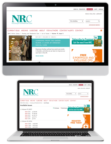 Picture of Nursing & Residential Care Website & CPD