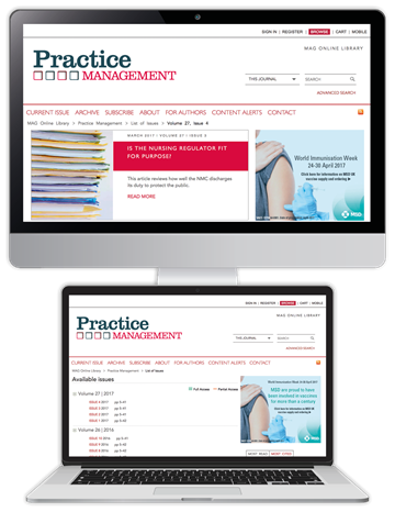 Picture of Practice Management Website