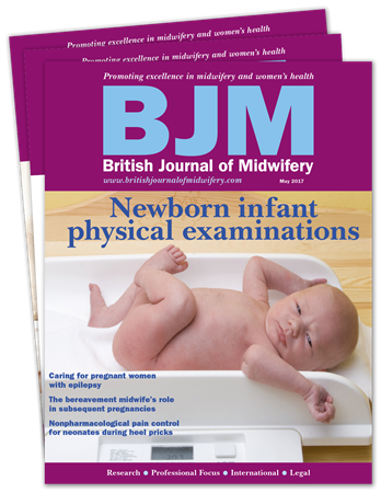 Picture for category British Journal of Midwifery