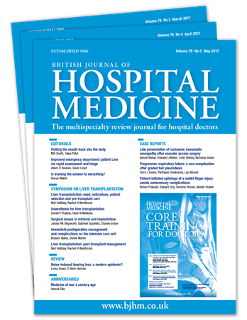 Picture for category British Journal of Hospital Medicine