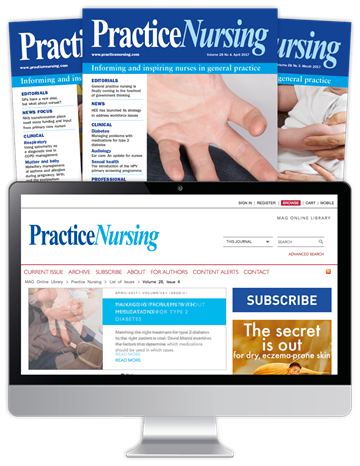 Picture of Practice Nursing Print, Website & CPD