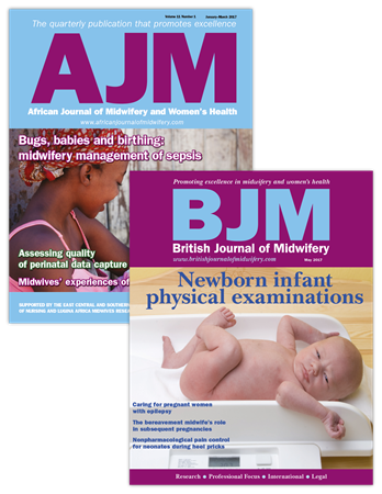 Picture for category African Journal of Midwifery and Women's Health & British Journal of Midwifery