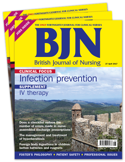 Picture of British Journal of Nursing Print & CPD
