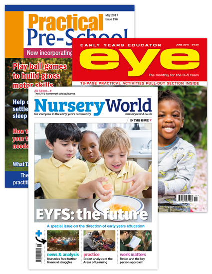 Picture of Nursery World,  Early Years Educator & Practical Pre-School Full Membership