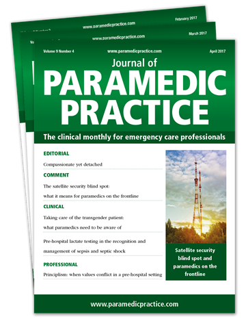 Picture of Journal of Paramedic Practice Print £3 for 3 issues