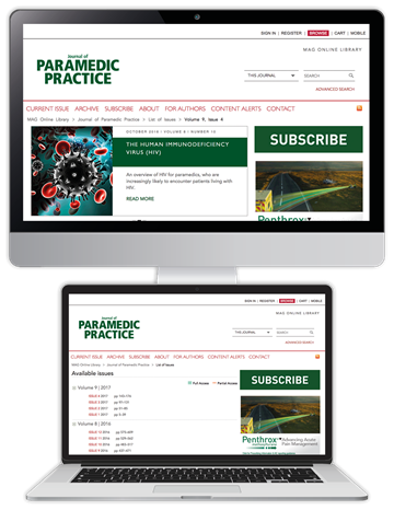 Picture of Journal of Paramedic Practice Website £3 for 3 months