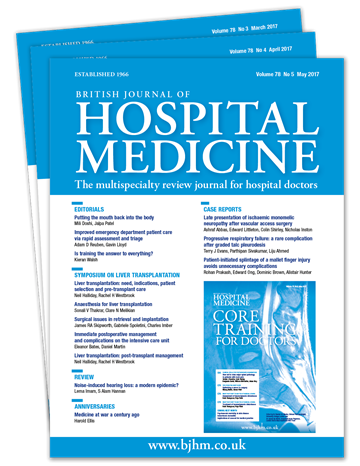 Picture of British Journal of Hospital Medicine Print £3 for 3 issues