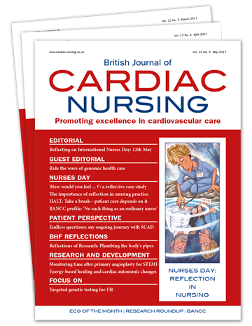 Picture of British Journal of Cardiac Nursing Print £3 for 3 issues