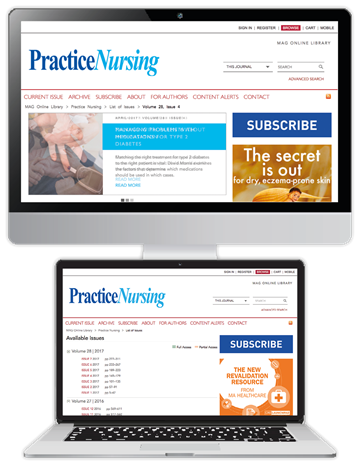 Picture of Practice Nursing Website £3 for 3 months