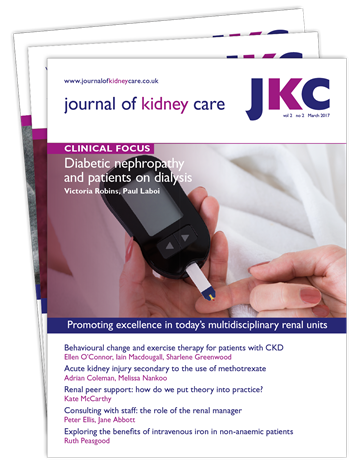 Picture of Journal of Kidney Care Print £1 for 1 issue