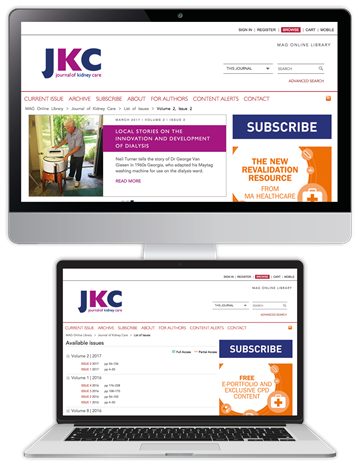 Picture of Journal of Kidney Care Website £1 for 1 month