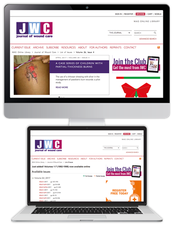 Picture of Journal of Wound Care Website £3 for 3 months