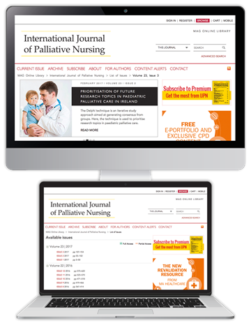 Picture of International Journal of Palliative Nursing Website £3 for 3 months