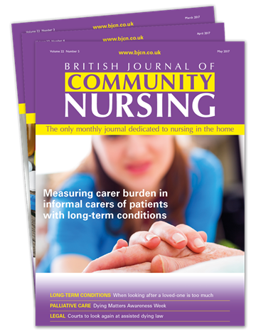 Picture of British Journal of Community Nursing Print £3 for 3 issues