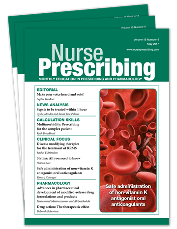 Picture of Nurse Prescribing Print £3 for 3 issues