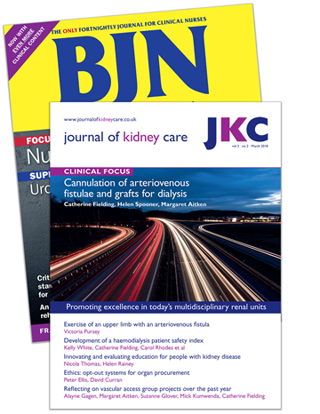 Picture of British Journal of Nursing Print & CPD & free Journal of Kidney Care