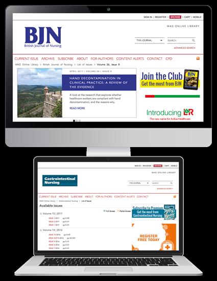 Picture of British Journal of Nursing Website & CPD & free Gastrointestinal Nursing