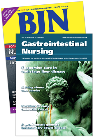 Picture of British Journal of Nursing Print & CPD & free Gastrointestinal Nursing