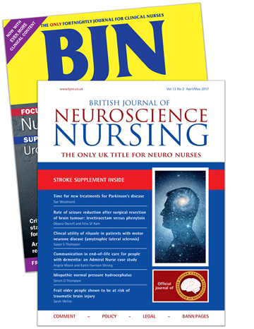 Picture of British Jnl of Nursing Print & CPD & free British Jnl of Neuroscience Nursing