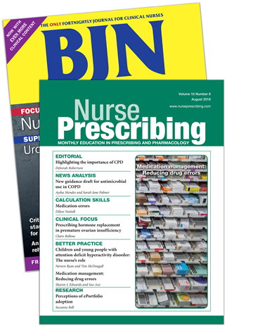 Picture of British Journal of Nursing Print & CPD & free Nurse Prescribing