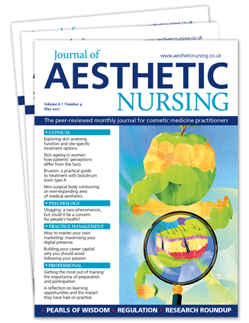 Picture of Journal of Aesthetic Nursing Print £1 for 1 issue