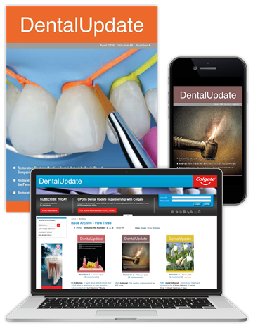 Picture of Dental Update Print, Website & App TDU003