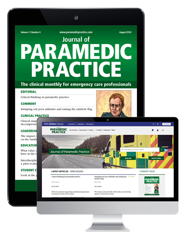 Picture of Journal of Paramedic Practice Digital & Website